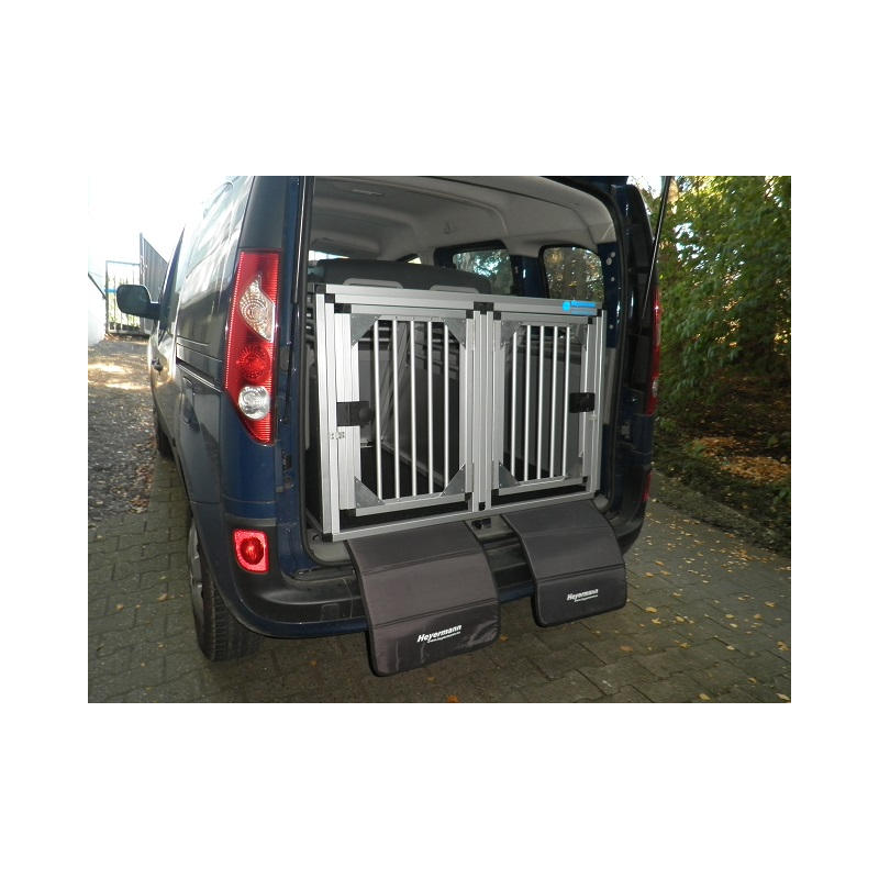 aluminium hunde transportbox doppelbox f r renault kangoo typ w. Black Bedroom Furniture Sets. Home Design Ideas
