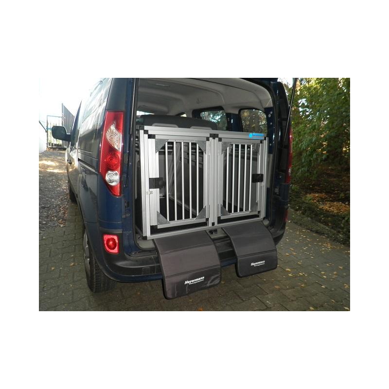 aluminium hunde transportbox doppelbox f r renault kangoo typ w. Black Bedroom Furniture Sets. Home Design Ideas