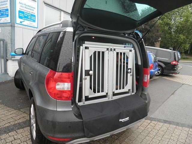 Hundetransportbox Doppelbox Fur Skoda Yeti Mit Variablen