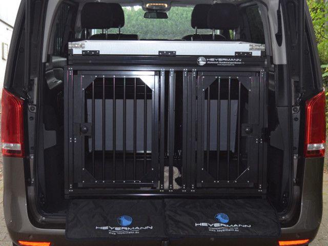 sichere und stabile aluminium hundetransportbox f r mercedes v klasse hundebox. Black Bedroom Furniture Sets. Home Design Ideas