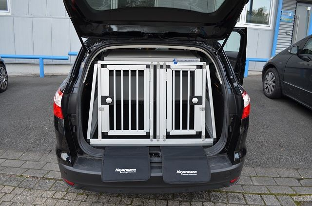 individuelle hundetransportbox doppelbox f r ford focus. Black Bedroom Furniture Sets. Home Design Ideas