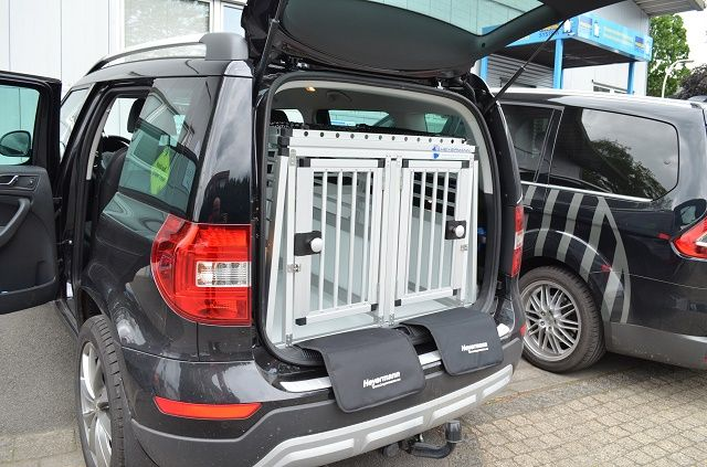 Individuelle Hundetransportbox Doppelbox Fur Skoda Yeti Mit