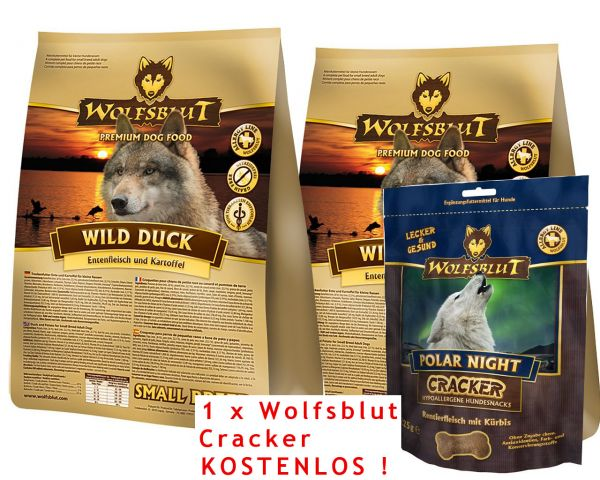 wolfsblut wild duck small breed kartoffel ente 15 kg 60. Black Bedroom Furniture Sets. Home Design Ideas