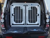 Individuelle Hundetransportbox/ Doppelbox für Land Rover Discovery 4 (Individualbau 73)