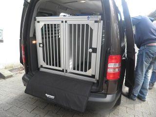 hundetransportbox doppelbox f r vw caddy life kombi. Black Bedroom Furniture Sets. Home Design Ideas