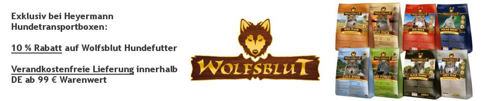 Rabatt auf Wolfsblut Hundefutter und versandkostenfreie Lieferung